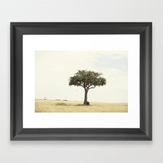tree hugger::kenya Framed Art Print