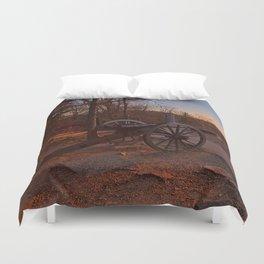 Gettysburg Sunset Cannon Duvet Cover
