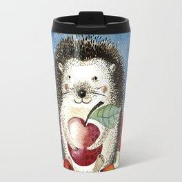 Autumn Woodland Friends Hedgehog Forest Illustration Travel Mug