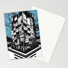 CMYK Triptych - Cyan Stationery Cards