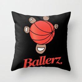 Basketball hand grip Throw Pillow