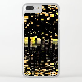 strange universe abstract digital geometric painting Clear iPhone Case