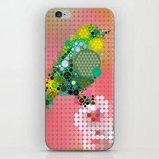 Green bird iPhone & iPod Skin