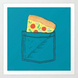 Emergency supply - pocket pizza Art Print