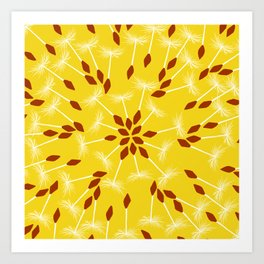 Dandelion Seed Pattern Art Print
