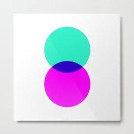Electric Turquoise + Magenta Metal Print