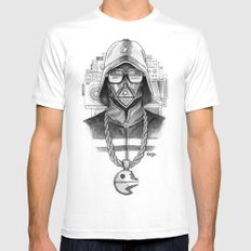 Def Vader Mens Fitted Tee White MEDIUM
