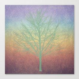 Green grunge tree Canvas Print