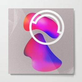 abstract fluid shapes no1 Metal Print