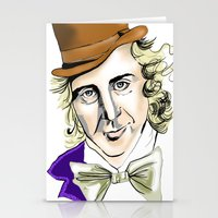 willy wonka Stationery Cards featuring Willy Wonka by Bubble Trump Ltd