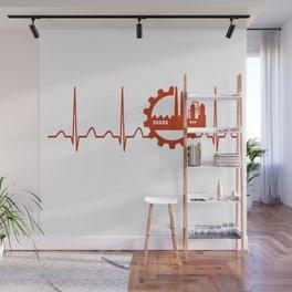Industrial Engineer Heartbeat Wall Mural