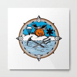 Moose Pararescue Mascot Metal Print