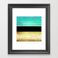 345 16 Turquoise Gold and Black Framed Art Print