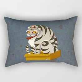 Minhwa: Big Happy Cat D Type Rectangular Pillow