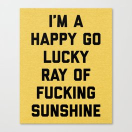 Ray Of Fucking Sunshine Funny Quote Canvas Print
