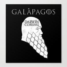 Darwin is Coming Canvas Print