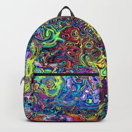 Abstract digital elephant Backpack