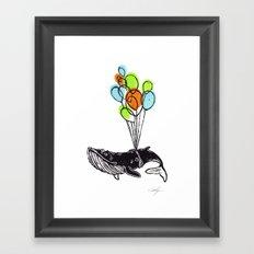 Balloons Whale Framed Art Print