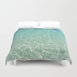 Colors of the Sea Water - Clear Turquoise Duvet Cover