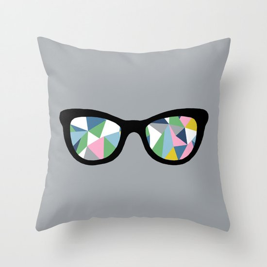 Abstract Eyes Throw Pillow