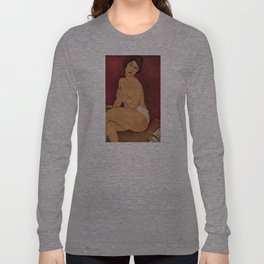 Amedeo Modigliani - Nude Sitting on a Divan Long Sleeve T-shirt