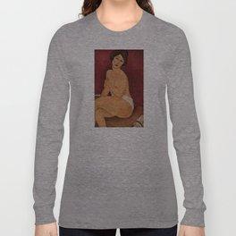 Amedeo Modigliani - Nude Sitting on a Divan Long Sleeve T-shirt