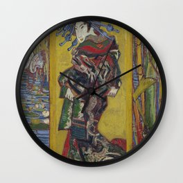 Vincent Van Gogh - Japanese - Oiran (after Kesai Eisen), 1887 Wall Clock