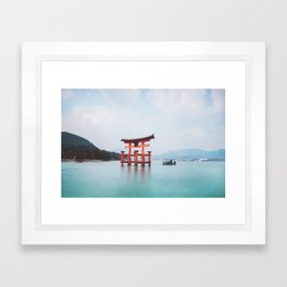 Floating Shrine of Miyajima, Japan Framed Art Print