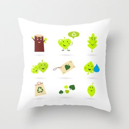 New leaves Characters BIO designs Throw Pillow