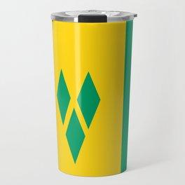 Saint Vincent and the Grenadines country flag Travel Mug