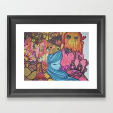 colorful happiness Framed Art Print