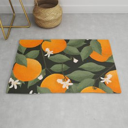 fresh citrus // dark Rug