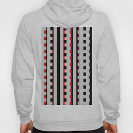 Rectangles Design red black Hoody