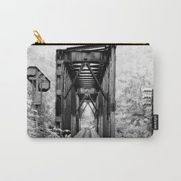 Railway Bridge Black and White Photographic Print Carry-All Pouch