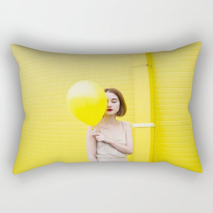 Girl balloon Rectangular Pillow