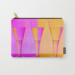 Three Coloured / Colored Wine Glasses  Carry-All Pouch