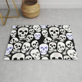 Small Tiled Skull Pattern Rug
