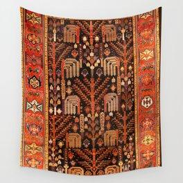 Floral Persian Bakhtiari Rug Print Wall Tapestry