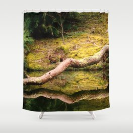 Reflections on the pond Shower Curtain