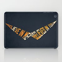 gurren lagann iPad Cases featuring Believe In Me Who Believes In You by 5eth