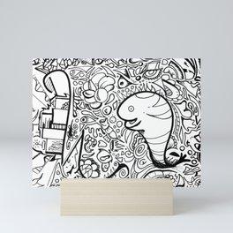 Looking strangely Mini Art Print
