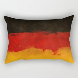 Watercolor flag of Germany Rectangular Pillow
