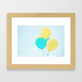 Happy Balloons Framed Art Print