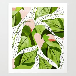 Blushing Leaves #illustration #painting Art Print