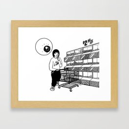 Floating Eyeball Framed Art Print