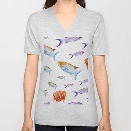 Fish Pattern 02 Unisex V-Neck
