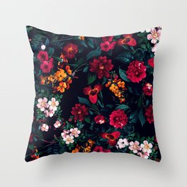 The Midnight Garden Throw Pillow