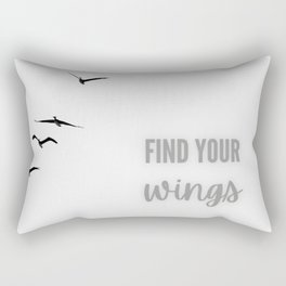 Find your wings Rectangular Pillow