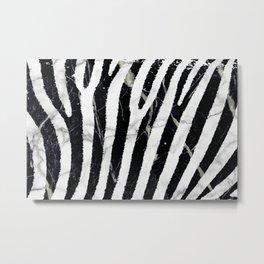 marble zebra Metal Print