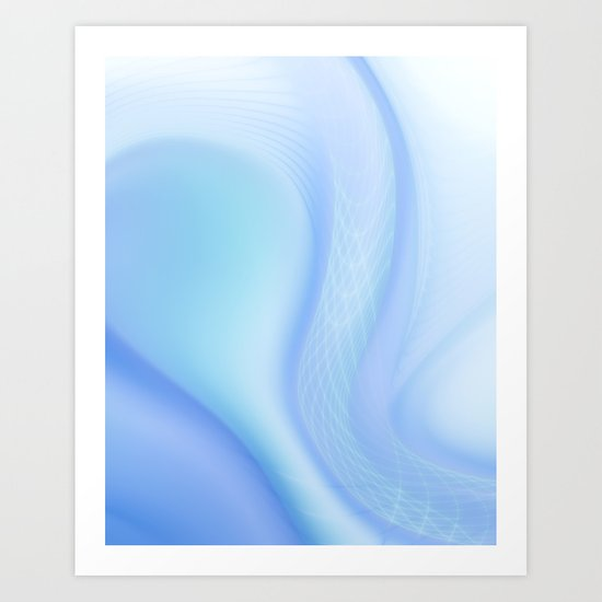 Soft Blue Wave Art Print